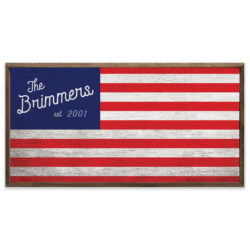Personalized Wooden Flag 24x12 Brimmer