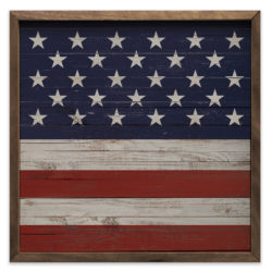 Square USA Flag Wood Sign 12x12 and 20x20