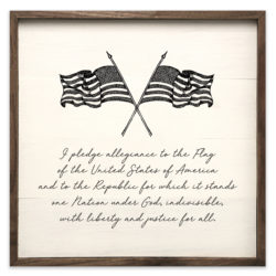 The Pledge of Allegiance Wood Sign 12x12 and 20x20