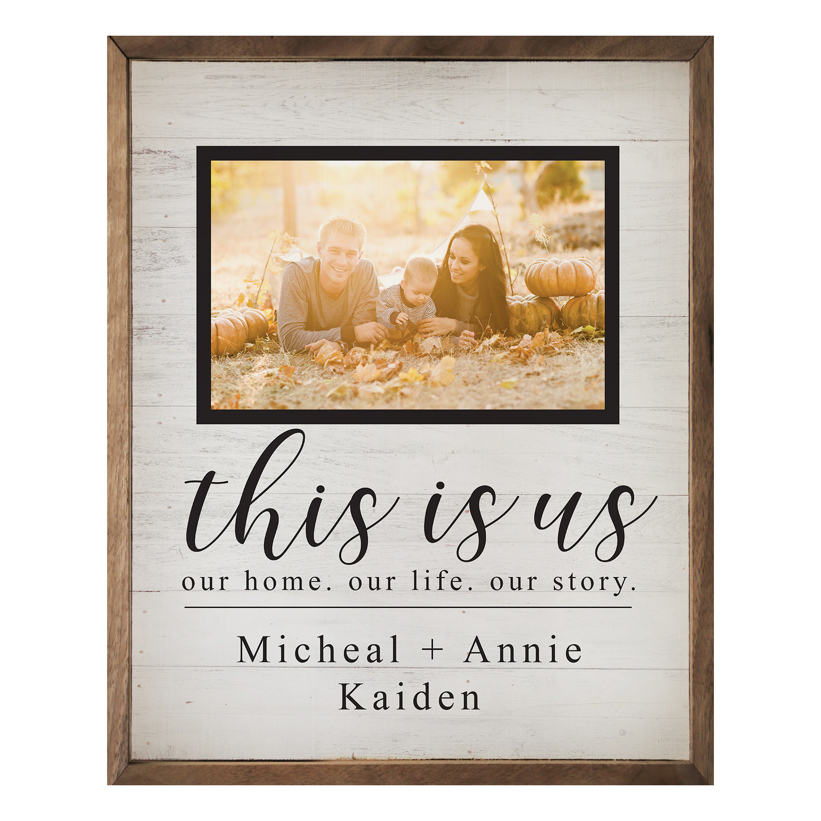Personalized This Is Us 16x20 Wood Print Shimlee