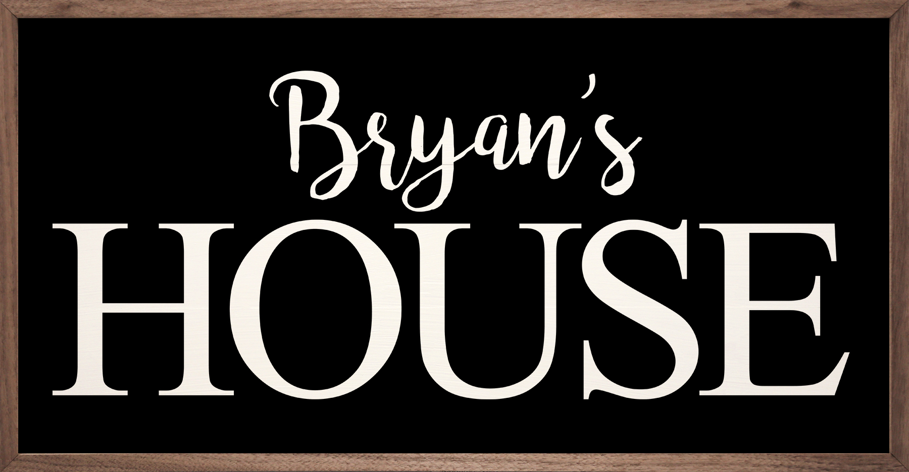 Black Personalized House Sign