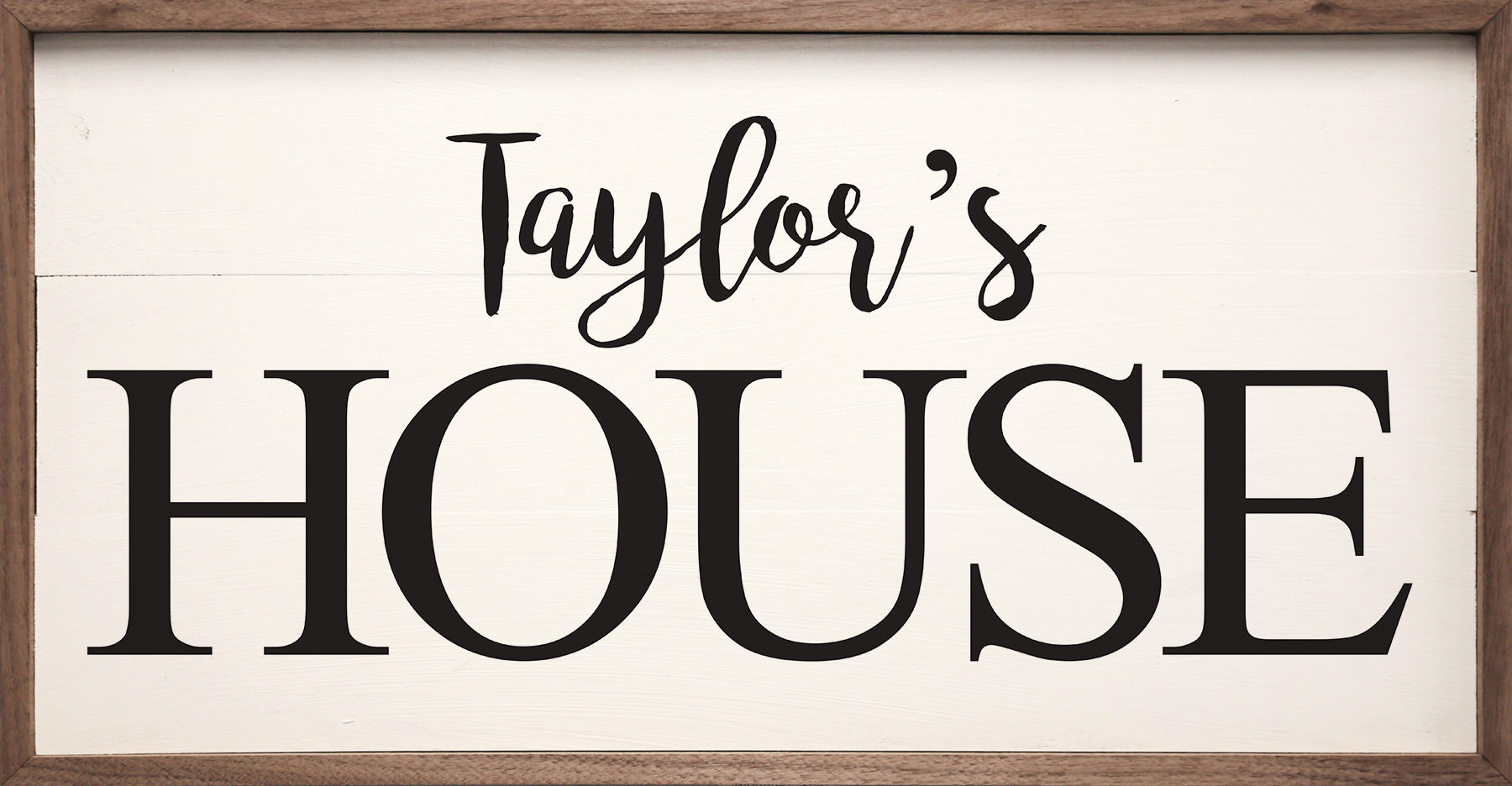 White Personalized House Sign