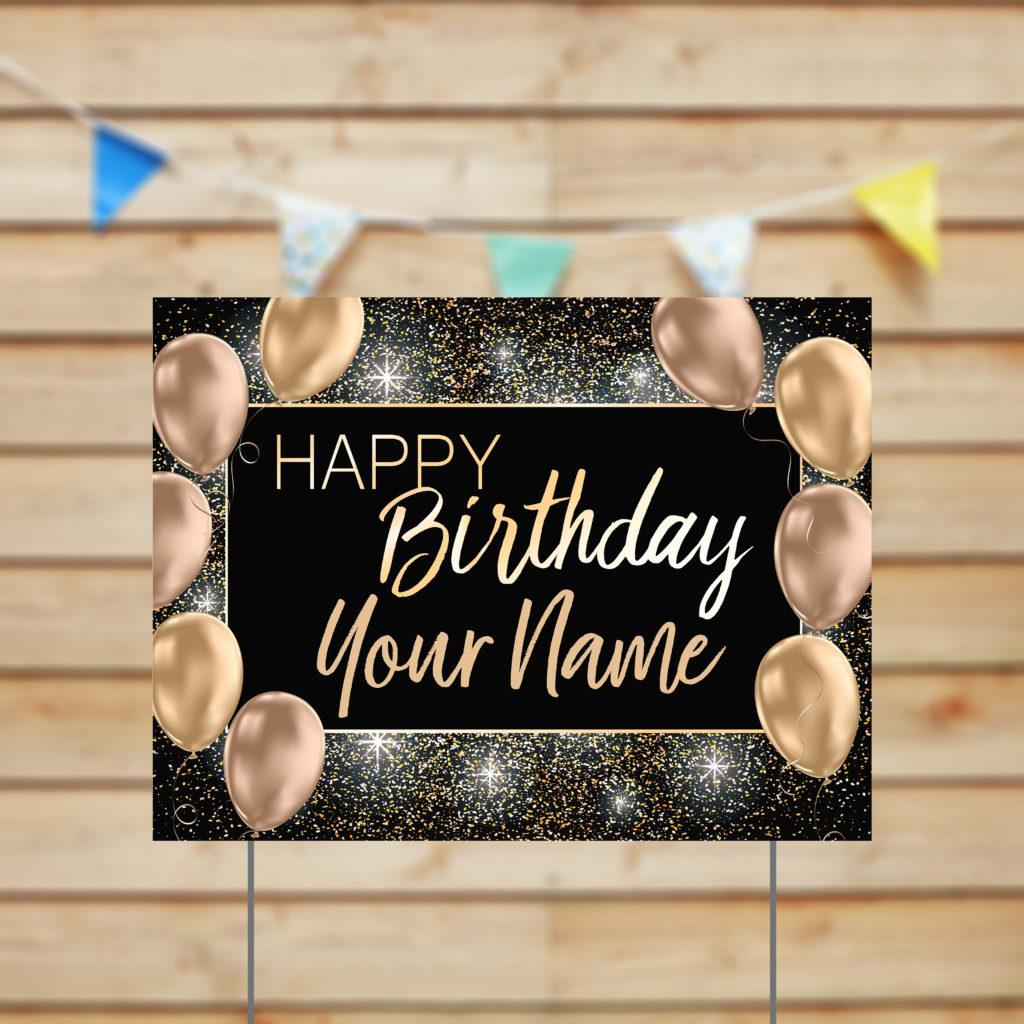 24×18 happy birthday name gold balloons  shimlee